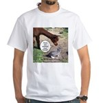 wash your hands black White T-Shirt
