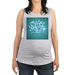 2-Flu Magnet green Maternity Tank Top