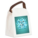 2-Flu Magnet green Canvas Lunch Bag