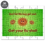 2-Flu Magnet green Puzzle