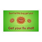 2-Flu Magnet green 35x21 Wall Decal
