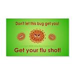 2-Flu Magnet green 20x12 Wall Decal