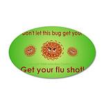 2-Flu Magnet green 35x21 Oval Wall Decal