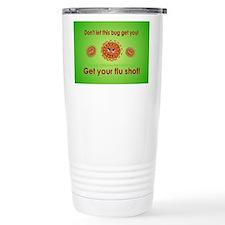 2-Flu Magnet green Stainless Steel Travel Mug