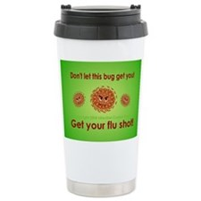 2-Flu Magnet green Stainless Steel Travel Mug