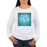 2-Flu Magnet green Women's Long Sleeve T-Shirt