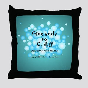 2-Flu Magnet green Throw Pillow