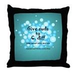 2-Flu Magnet green Throw Pillow