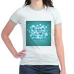 2-Flu Magnet green Jr. Ringer T-Shirt