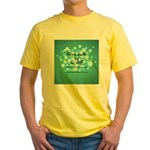 2-Flu Magnet green Yellow T-Shirt