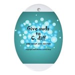 2-Flu Magnet green Ornament (Oval)