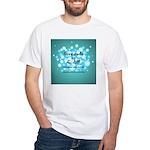 2-Flu Magnet green White T-Shirt