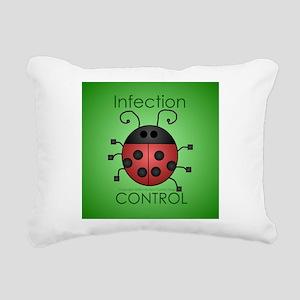 Infection Control Apperal Rectangular Canvas Pillo