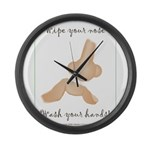 Infection Control Apperal Large Wall Clock