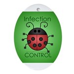 Infection Control Apperal Ornament (Oval)
