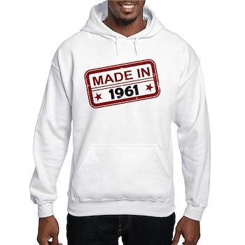 Stamped Made In 1961 Hooded Sweatshirt