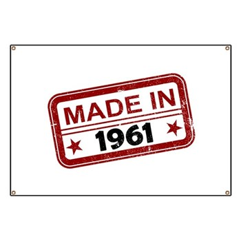 Stamped Made In 1961 Banner