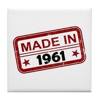 Stamped Made In 1961 Tile Coaster