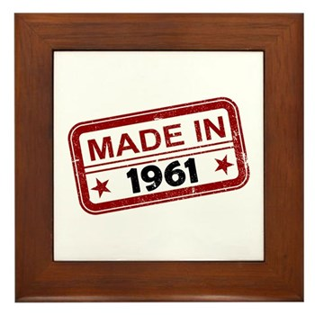 Stamped Made In 1961 Framed Tile