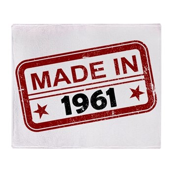 Stamped Made In 1961 Stadium Blanket
