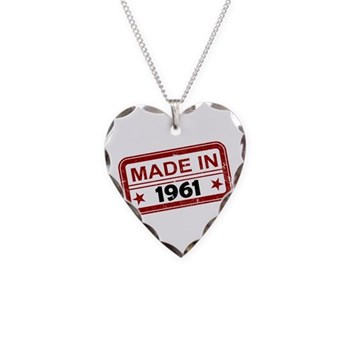 Stamped Made In 1961 Necklace Heart Charm