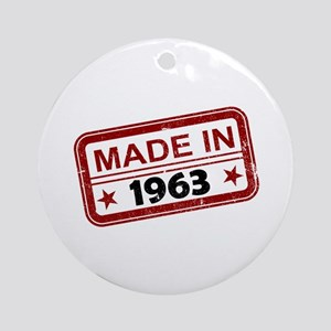 Stamped Made In 1963 Round Ornament