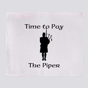 Pay the Piper Throw Blanket