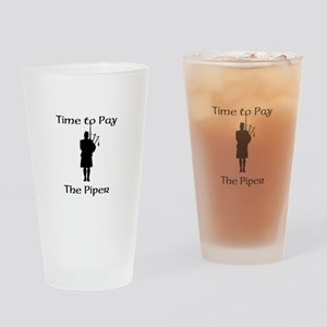 Pay the Piper Drinking Glass