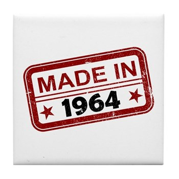 Stamped Made In 1964 Tile Coaster