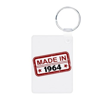 Stamped Made In 1964 Aluminum Photo Keychain