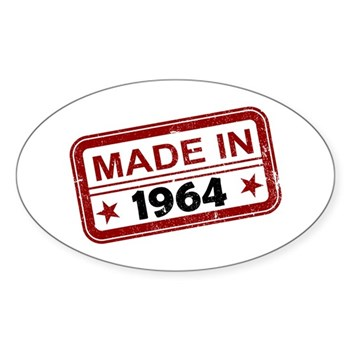 Stamped Made In 1964 Oval Sticker
