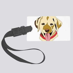 Yellow Lab Large Luggage Tag