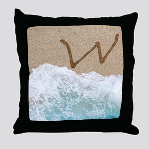 LETTERS IN SAND W Throw Pillow