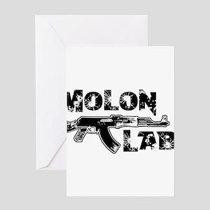 MOLON LABE Greeting Cards