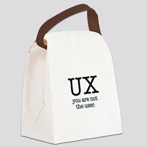 UX, you are not the user Canvas Lunch Bag