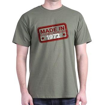 Stamped Made In 1972 Dark T-Shirt