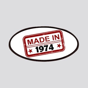 Stamped Made In 1974 Patches