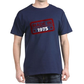 Stamped Made In 1975 Dark T-Shirt