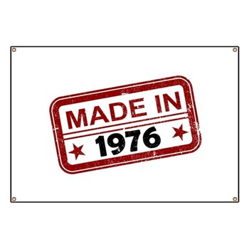 Stamped Made In 1976 Banner