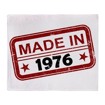 Stamped Made In 1976 Stadium Blanket
