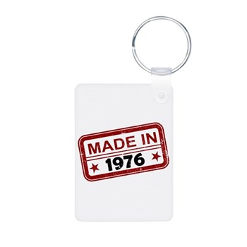 Stamped Made In 1976 Aluminum Photo Keychain