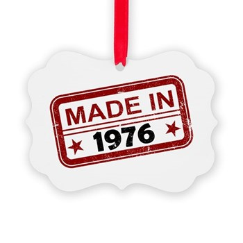 Stamped Made In 1976 Picture Ornament