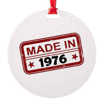 Stamped Made In 1976 Round Ornament