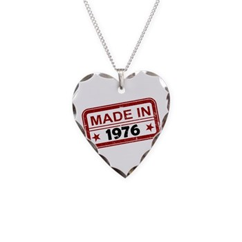 Stamped Made In 1976 Necklace Heart Charm