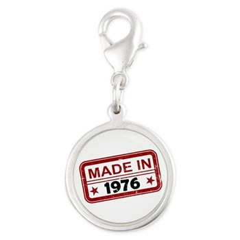 Stamped Made In 1976 Silver Round Charm