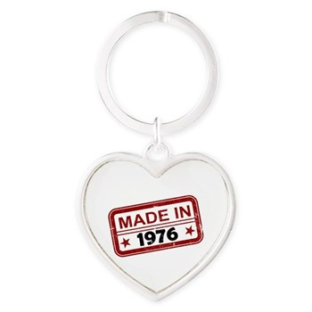 Stamped Made In 1976 Heart Keychain