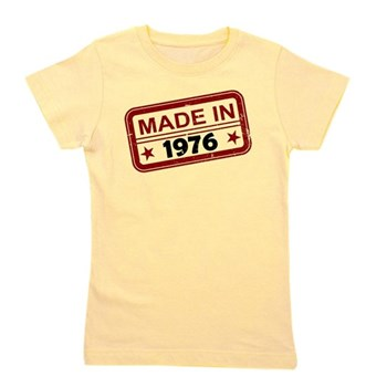 Stamped Made In 1976 Girl's Tee