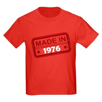 Stamped Made In 1976 Kids Dark T-Shirt