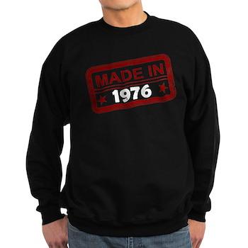 Stamped Made In 1976 Dark Sweatshirt
