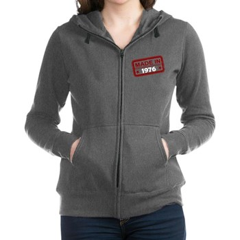 Stamped Made In 1976 Women's Zip Hoodie